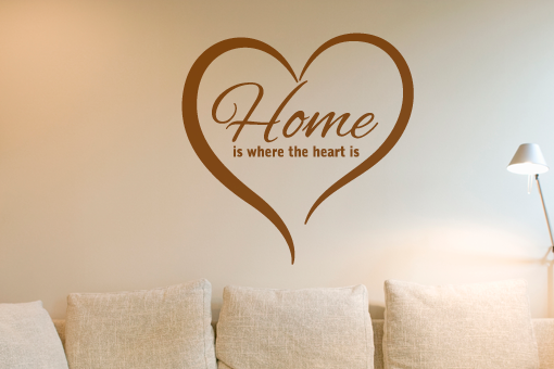 kramerstickers woonstickers muurteksten home is where the heart is. Black Bedroom Furniture Sets. Home Design Ideas